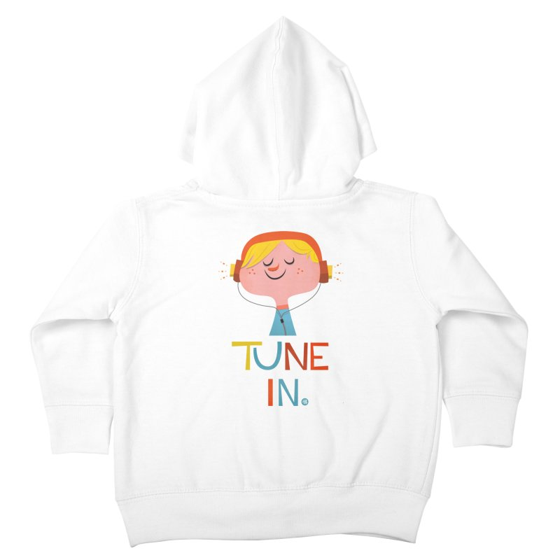 Tune In. Kids Toddler Zip-Up Hoody by amirabouroumie's Artist Shop