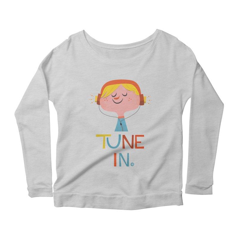 Tune In. Women's Scoop Neck Longsleeve T-Shirt by amirabouroumie's Artist Shop