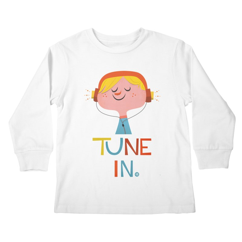 Tune In. Kids Longsleeve T-Shirt by amirabouroumie's Artist Shop