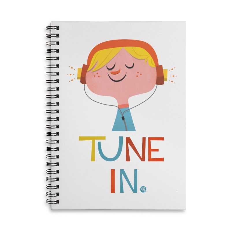 Tune In. Accessories Lined Spiral Notebook by amirabouroumie's Artist Shop