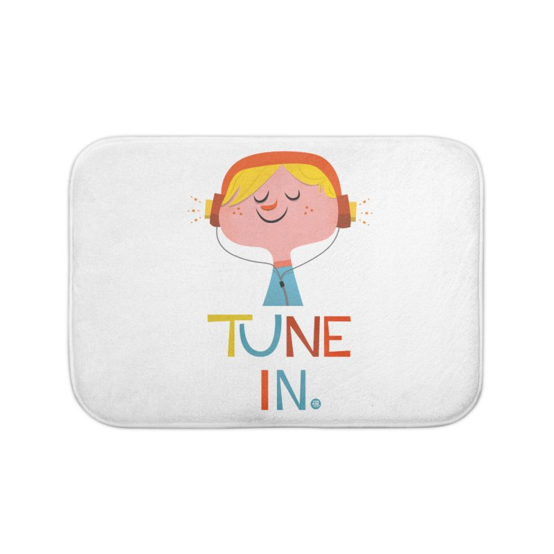 Tune In. Home Bath Mat by amirabouroumie's Artist Shop