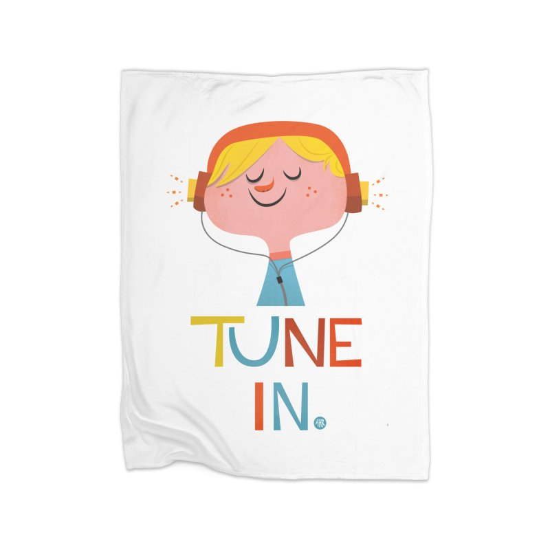 Tune In. Home Blanket by amirabouroumie's Artist Shop