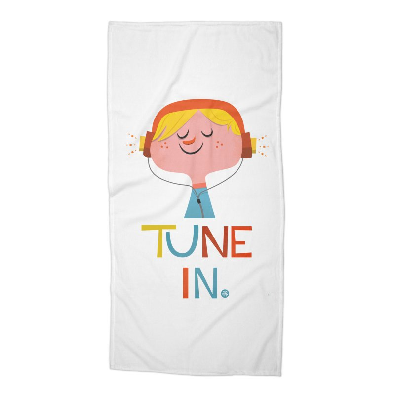 Tune In. Accessories Beach Towel by amirabouroumie's Artist Shop