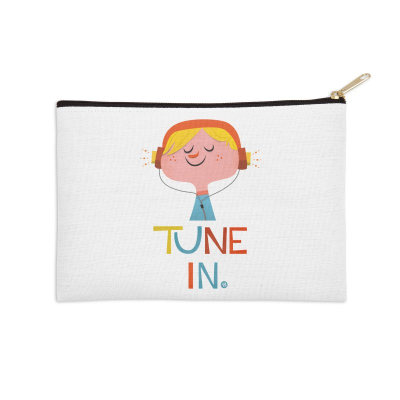Tune In. Accessories Zip Pouch by amirabouroumie's Artist Shop