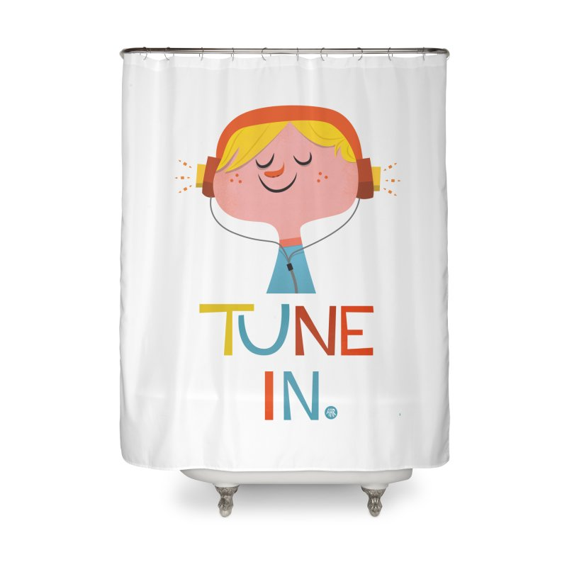 Tune In. Home Shower Curtain by amirabouroumie's Artist Shop