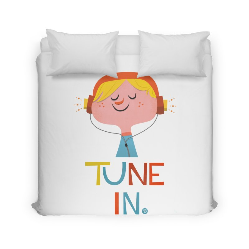 Tune In. Home Duvet by amirabouroumie's Artist Shop
