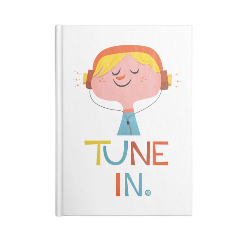 Tune In. Accessories Lined Journal Notebook by amirabouroumie's Artist Shop