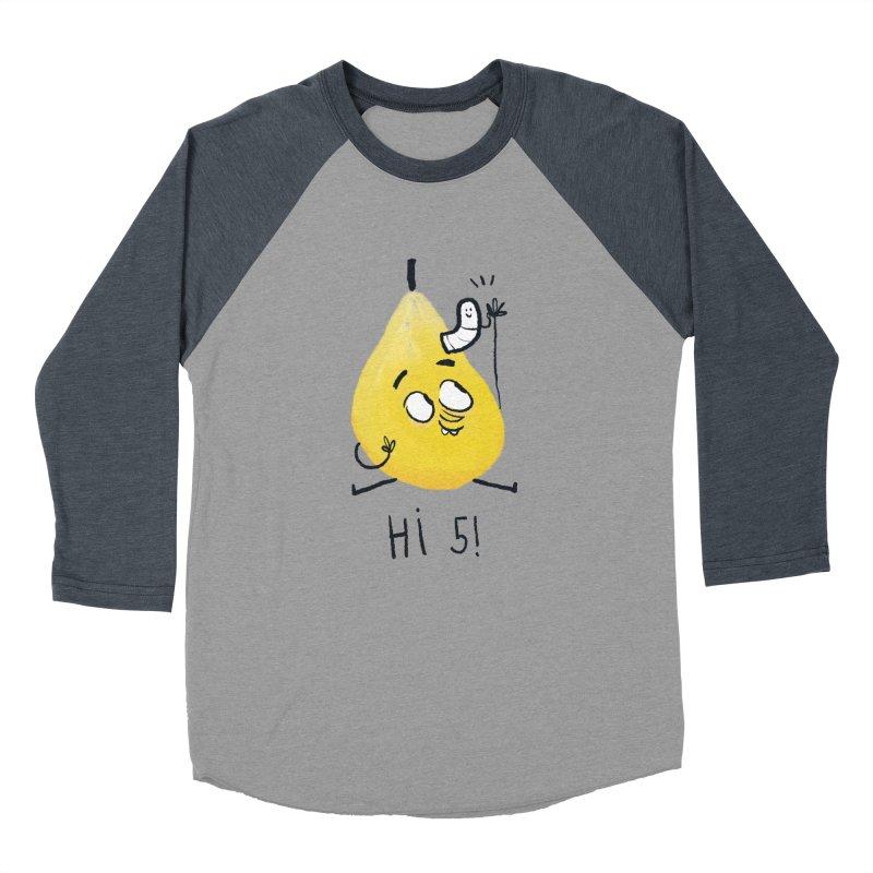 Hi Five! Men's Baseball Triblend Longsleeve T-Shirt by amirabouroumie's Artist Shop
