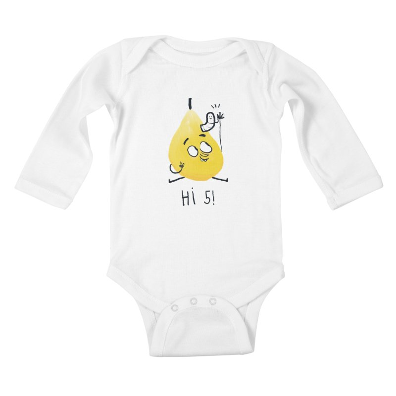 Hi Five! Kids Baby Longsleeve Bodysuit by amirabouroumie's Artist Shop