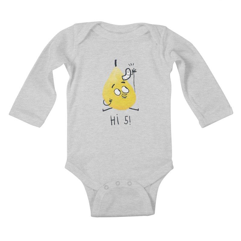 Hi Five! Kids Baby Longsleeve Bodysuit by amirabouroumie's Artist Shop