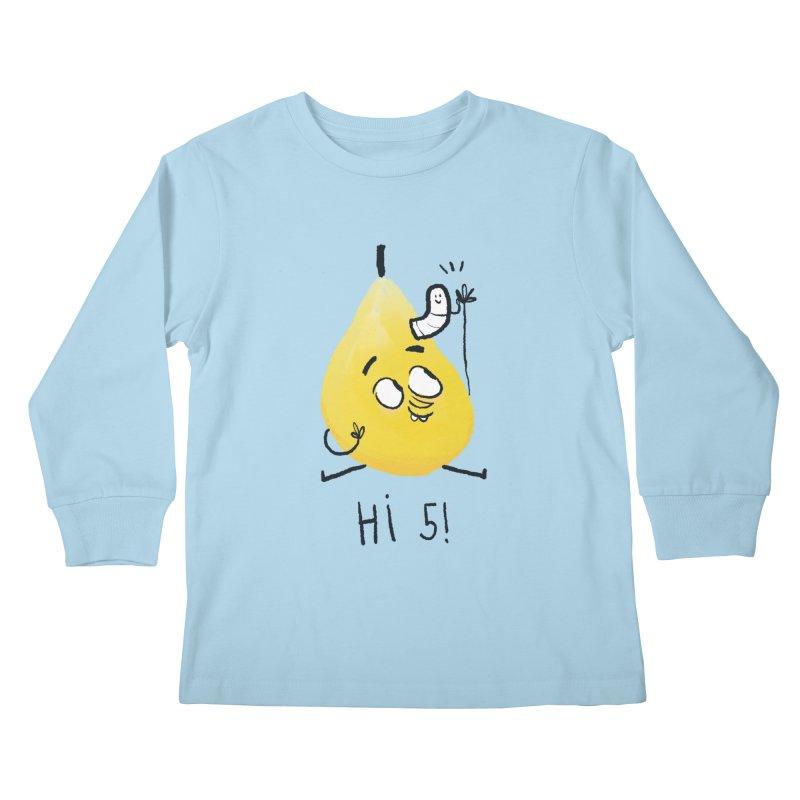 Hi Five! Kids Longsleeve T-Shirt by amirabouroumie's Artist Shop