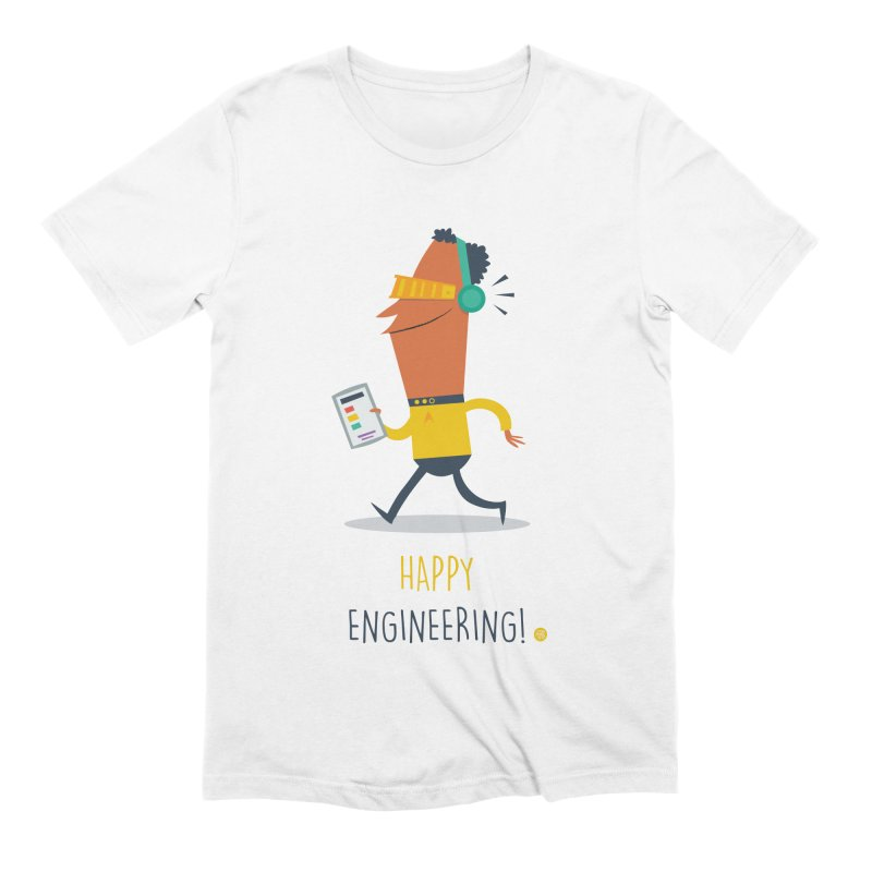 Happy Engineering Men's Extra Soft T-Shirt by amirabouroumie's Artist Shop