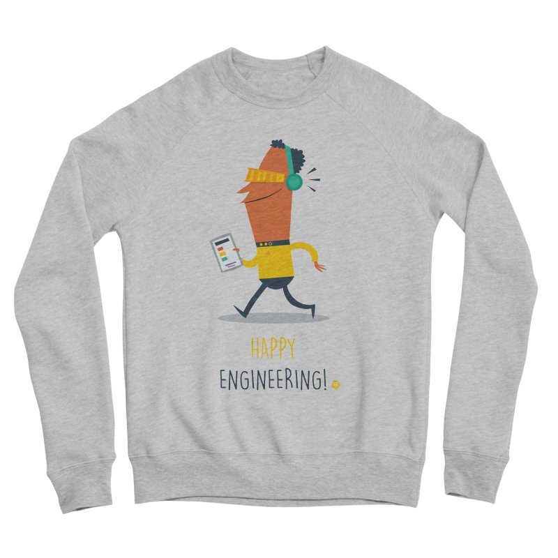Happy Engineering Men's Sponge Fleece Sweatshirt by amirabouroumie's Artist Shop
