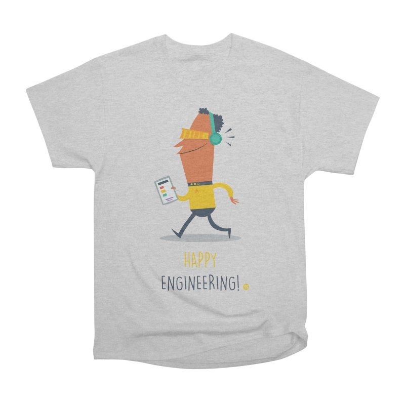 Happy Engineering Men's Heavyweight T-Shirt by amirabouroumie's Artist Shop