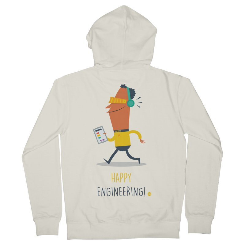 Happy Engineering Men's French Terry Zip-Up Hoody by amirabouroumie's Artist Shop