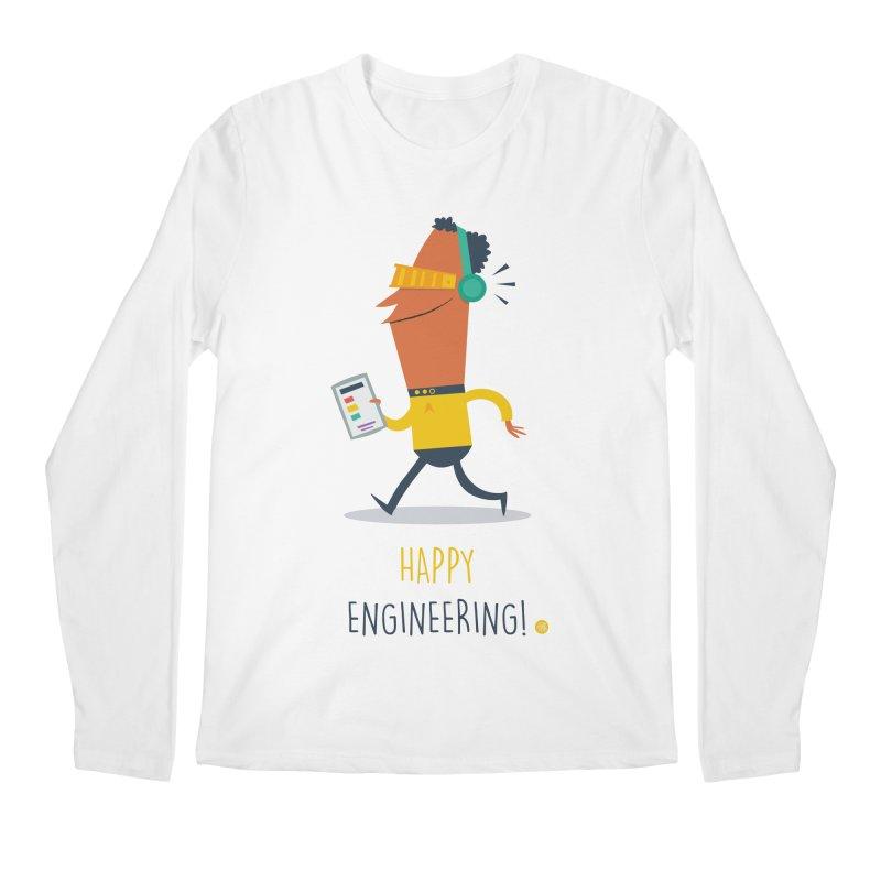 Happy Engineering Men's Regular Longsleeve T-Shirt by amirabouroumie's Artist Shop