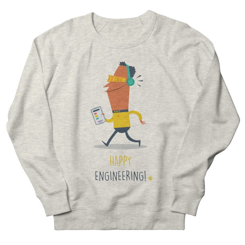 Happy Engineering Men's French Terry Sweatshirt by amirabouroumie's Artist Shop