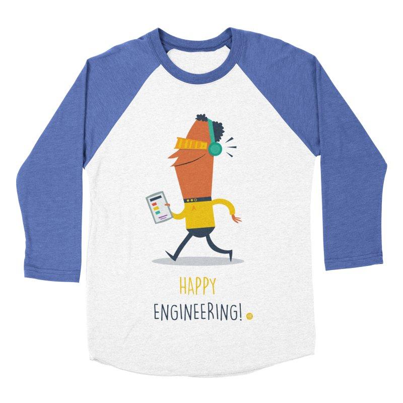 Happy Engineering Women's Baseball Triblend Longsleeve T-Shirt by amirabouroumie's Artist Shop