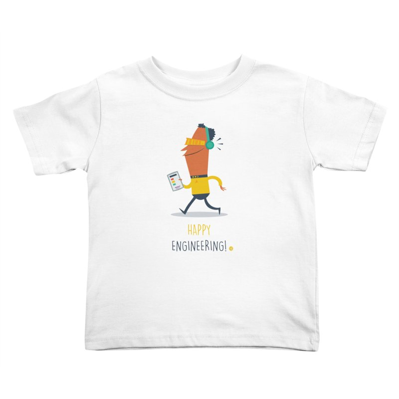 Happy Engineering Kids Toddler T-Shirt by amirabouroumie's Artist Shop
