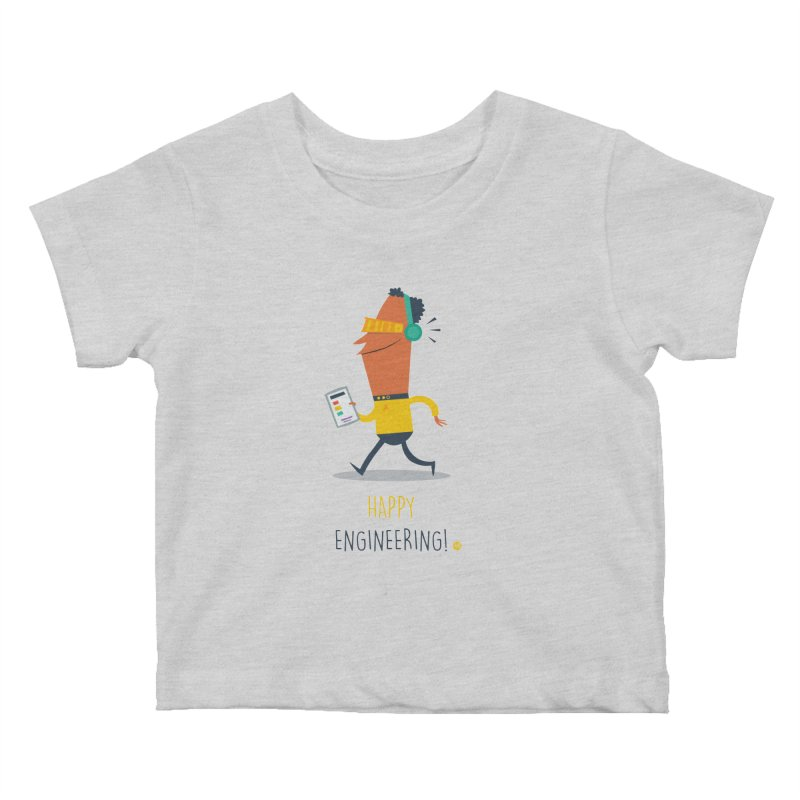 Happy Engineering Kids Baby T-Shirt by amirabouroumie's Artist Shop