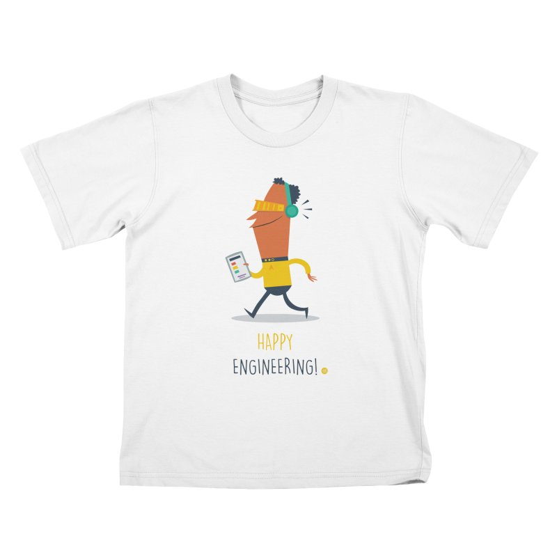 Happy Engineering Kids T-Shirt by amirabouroumie's Artist Shop
