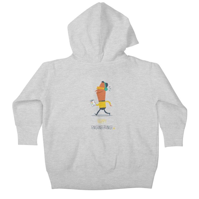 Happy Engineering Kids Baby Zip-Up Hoody by amirabouroumie's Artist Shop