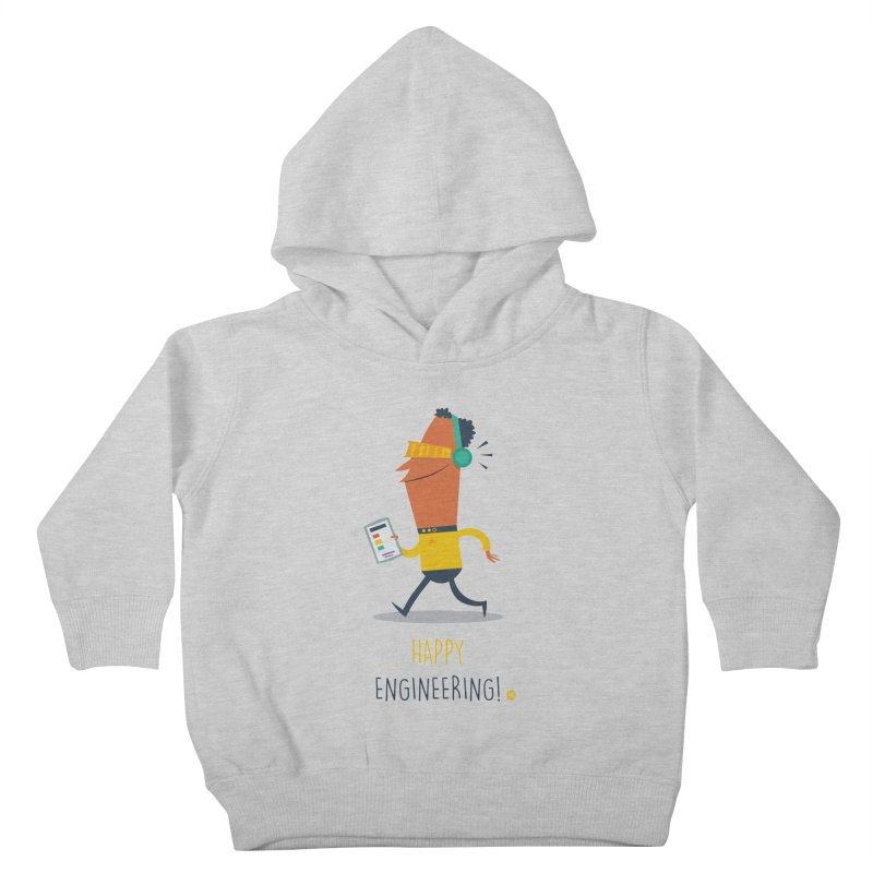 Happy Engineering Kids Toddler Pullover Hoody by amirabouroumie's Artist Shop