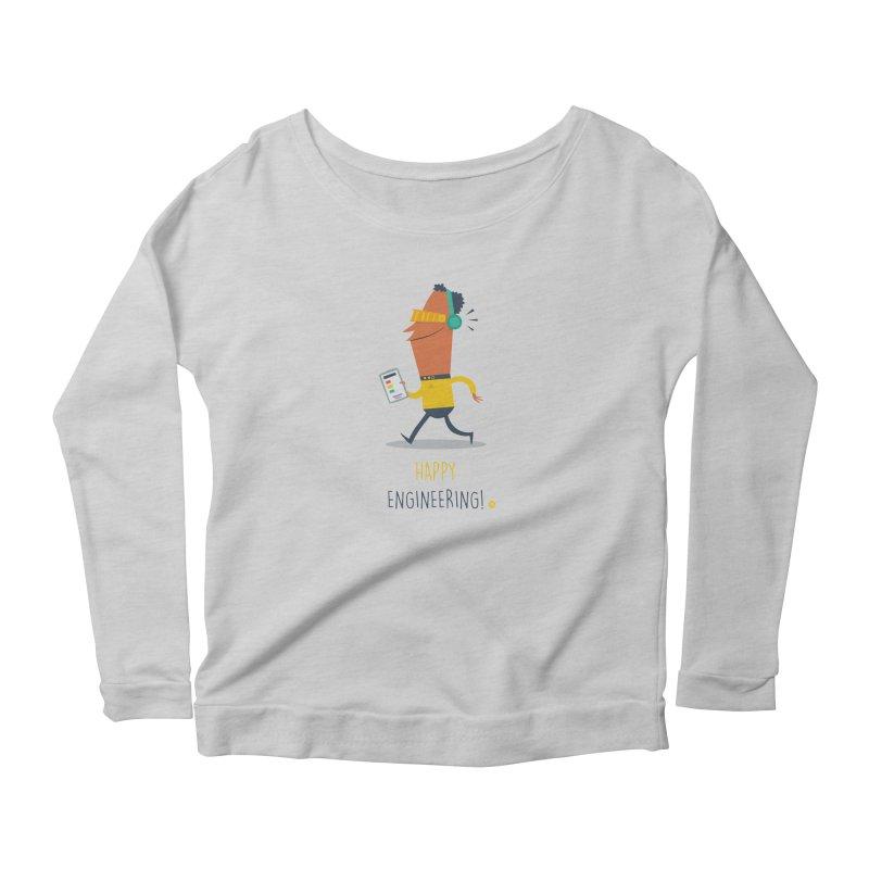 Happy Engineering Women's Longsleeve T-Shirt by amirabouroumie's Artist Shop
