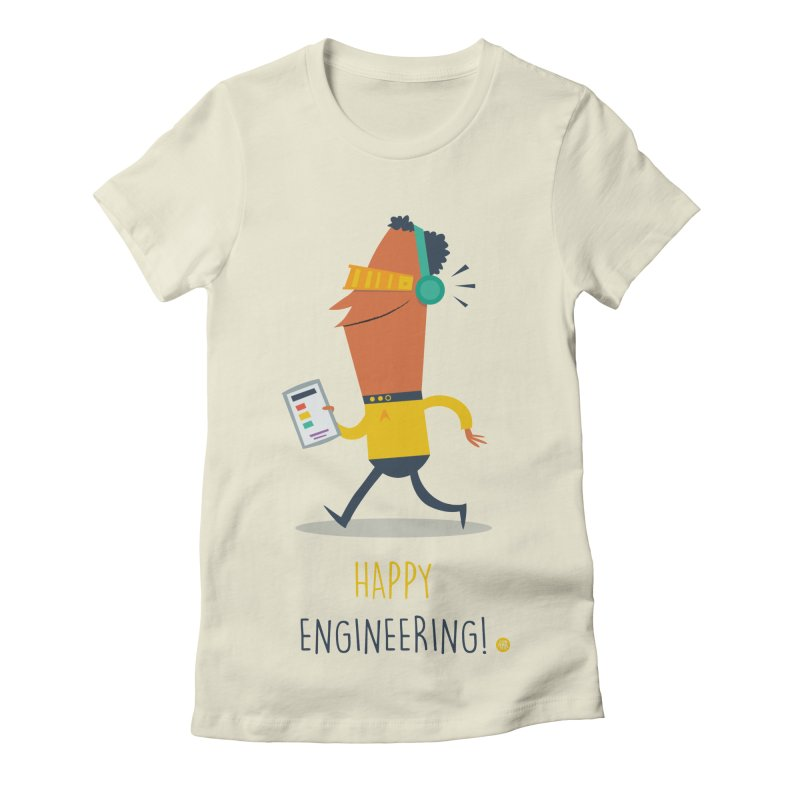 Happy Engineering Women's Fitted T-Shirt by amirabouroumie's Artist Shop