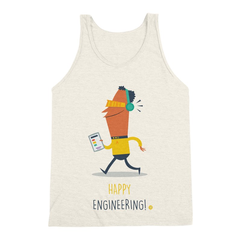 Happy Engineering Men's Triblend Tank by amirabouroumie's Artist Shop