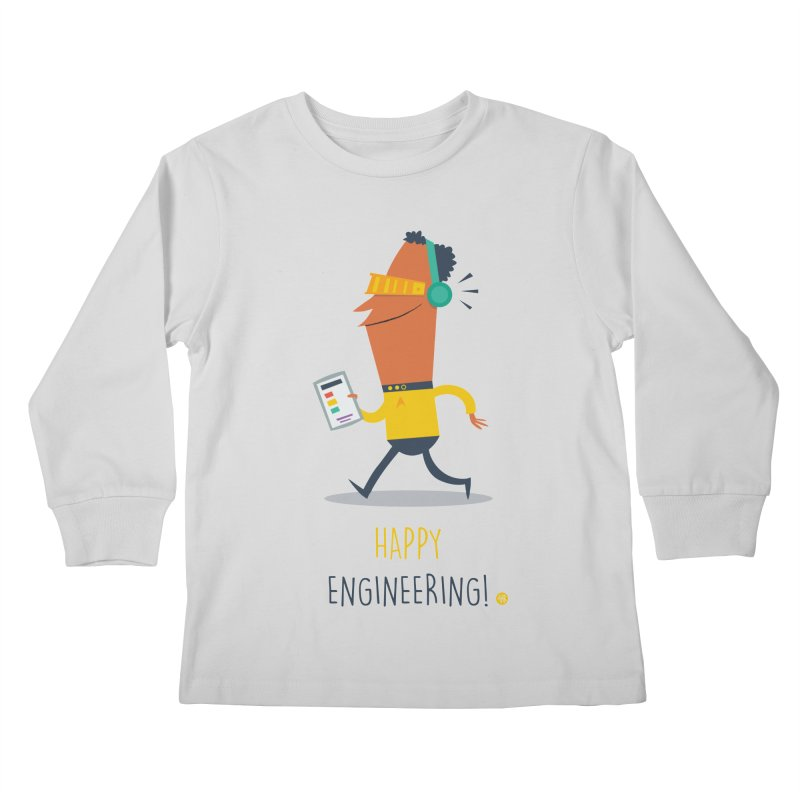 Happy Engineering Kids Longsleeve T-Shirt by amirabouroumie's Artist Shop
