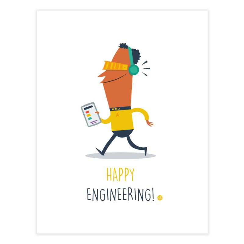 Happy Engineering Home Fine Art Print by amirabouroumie's Artist Shop