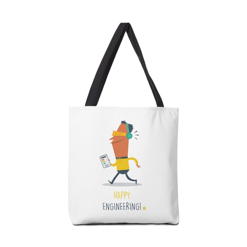 Happy Engineering Accessories Bag by amirabouroumie's Artist Shop