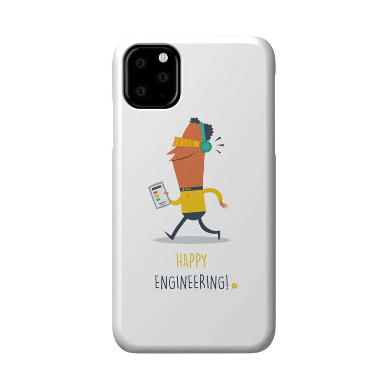 Happy Engineering Accessories Phone Case by amirabouroumie's Artist Shop