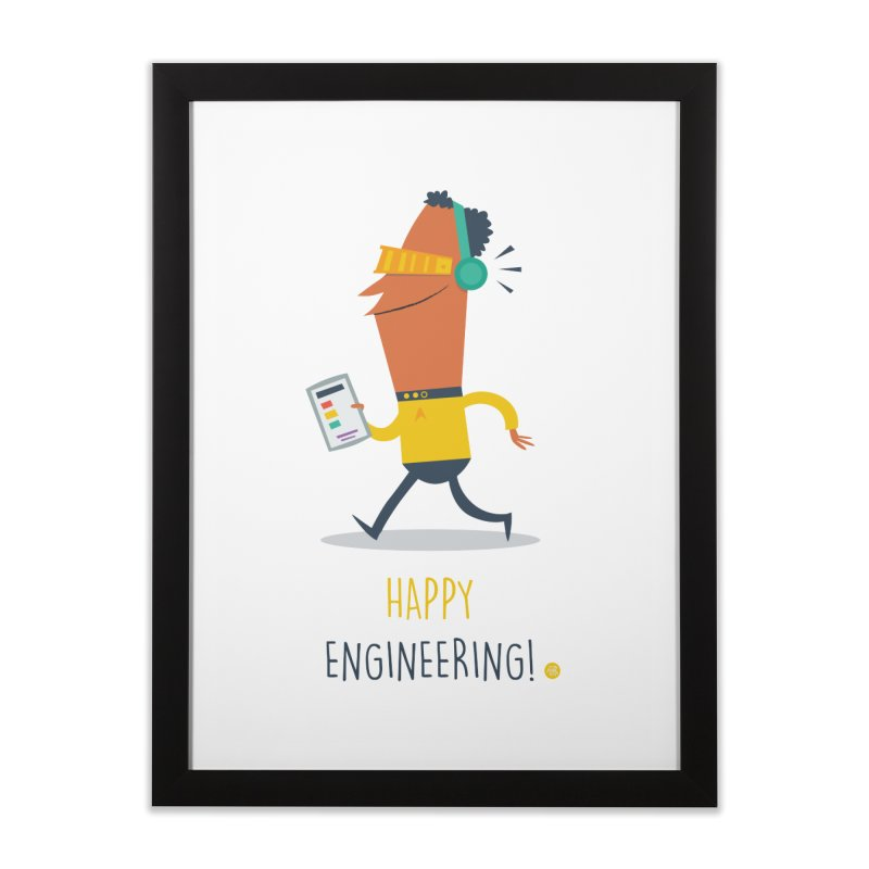 Happy Engineering Home Framed Fine Art Print by amirabouroumie's Artist Shop