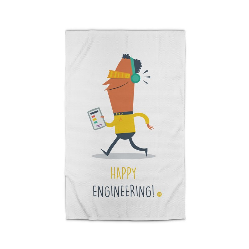 Happy Engineering Home Rug by amirabouroumie's Artist Shop