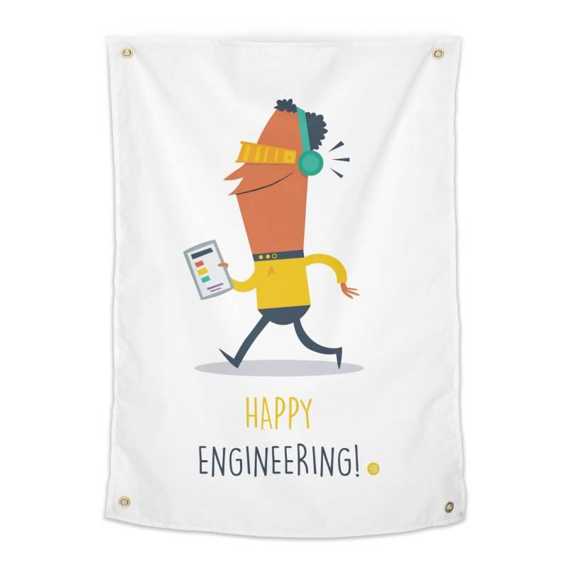 Happy Engineering Home Tapestry by amirabouroumie's Artist Shop