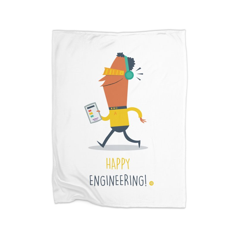 Happy Engineering Home Blanket by amirabouroumie's Artist Shop