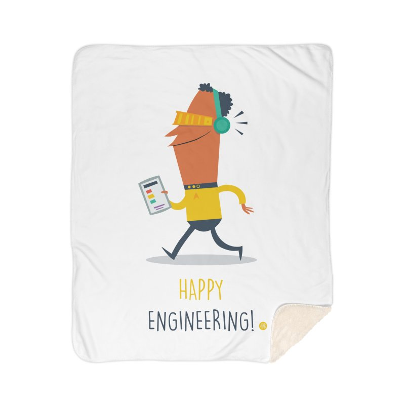 Happy Engineering Home Sherpa Blanket Blanket by amirabouroumie's Artist Shop