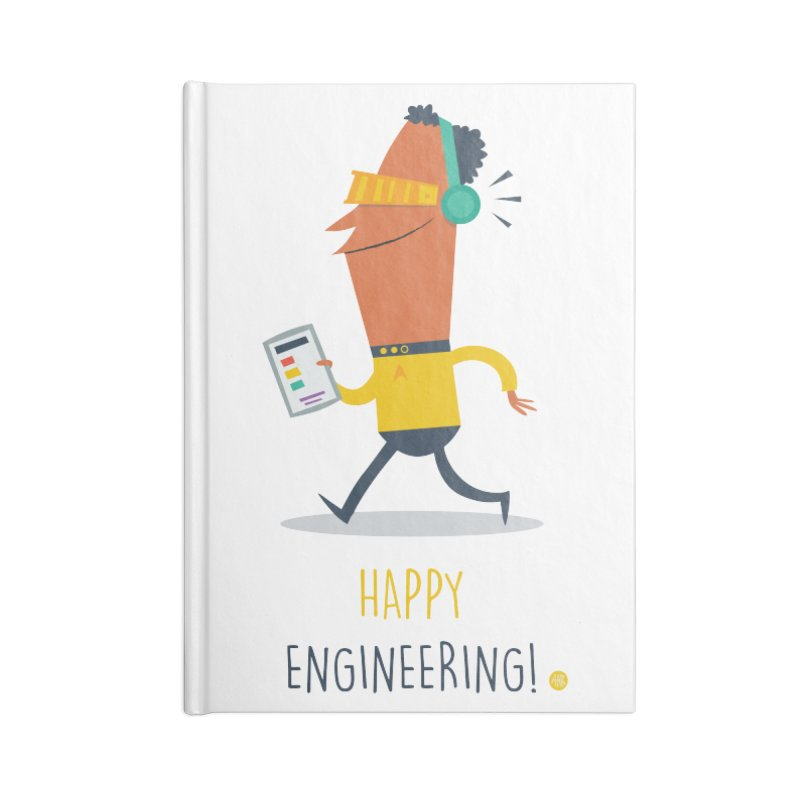 Happy Engineering Accessories Lined Journal Notebook by amirabouroumie's Artist Shop