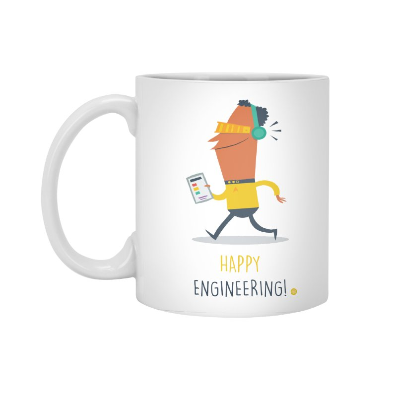 Happy Engineering Accessories Standard Mug by amirabouroumie's Artist Shop