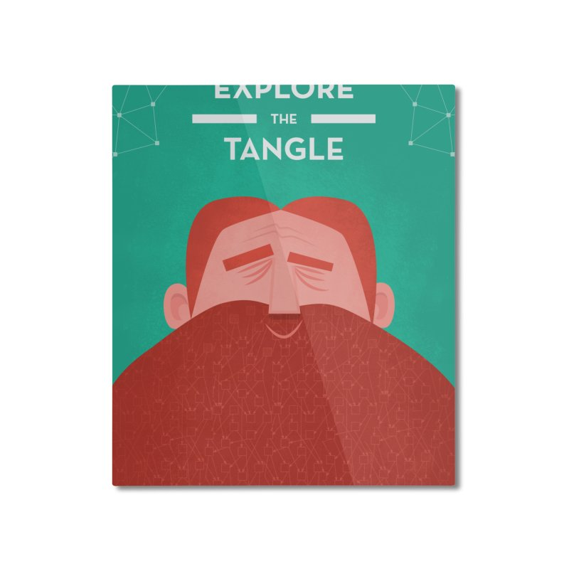 IOTA Tangle Illustration - David's Beard | Cryptocurrency | Blockchain | Retro | Vintage | Tech Home Mounted Aluminum Print by amirabouroumie's Artist Shop