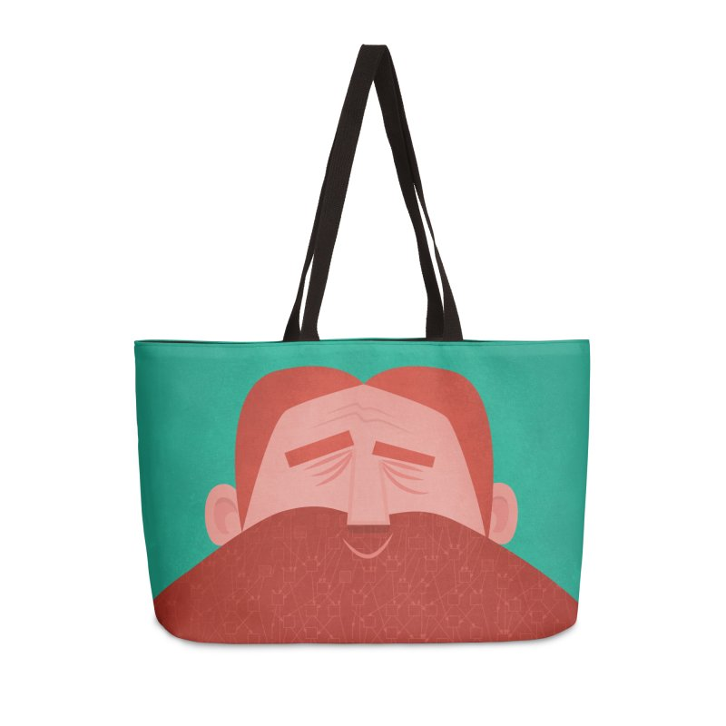 IOTA Tangle Illustration - David's Beard | Cryptocurrency | Blockchain | Retro | Vintage | Tech Accessories Weekender Bag Bag by amirabouroumie's Artist Shop