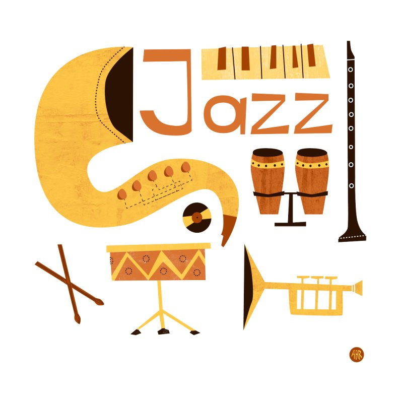 Vintage Jazz Illustration by amirabouroumie's Artist Shop
