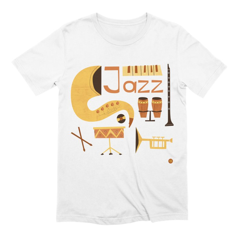Vintage Jazz Illustration Men's Extra Soft T-Shirt by amirabouroumie's Artist Shop