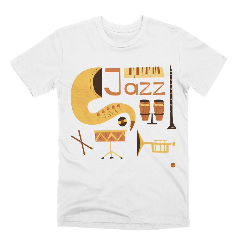 Vintage Jazz Illustration Men's Premium T-Shirt by amirabouroumie's Artist Shop