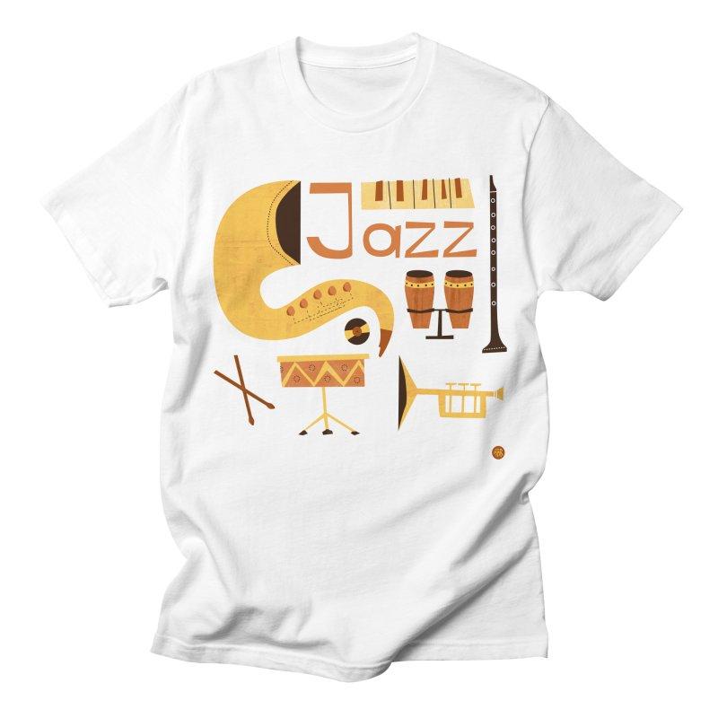 Vintage Jazz Illustration Men's T-Shirt by amirabouroumie's Artist Shop