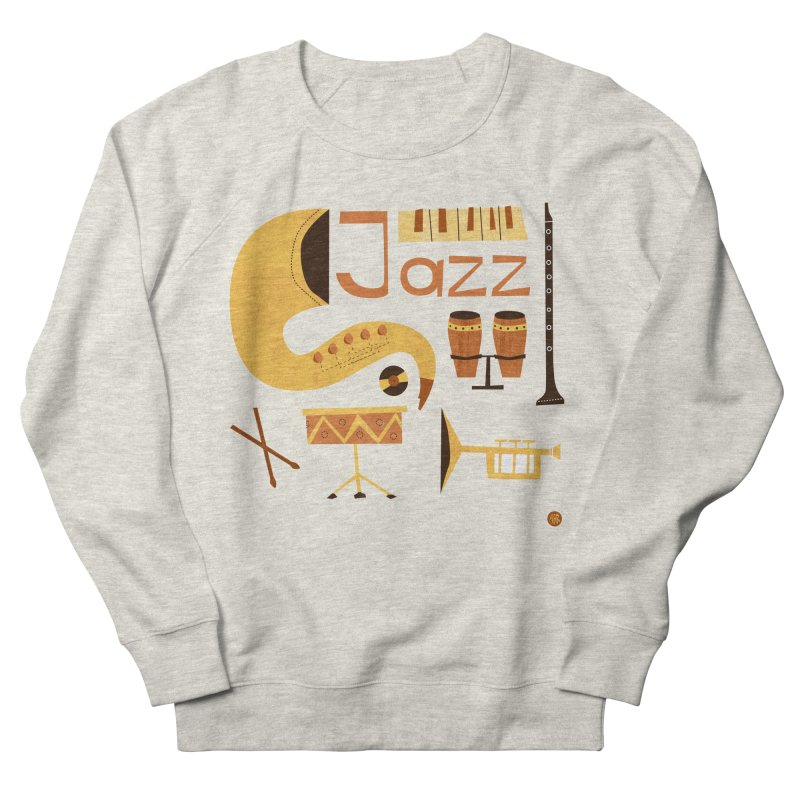 Vintage Jazz Illustration Men's French Terry Sweatshirt by amirabouroumie's Artist Shop