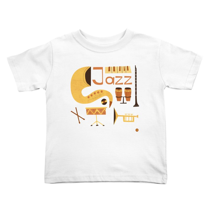 Vintage Jazz Illustration Kids Toddler T-Shirt by amirabouroumie's Artist Shop