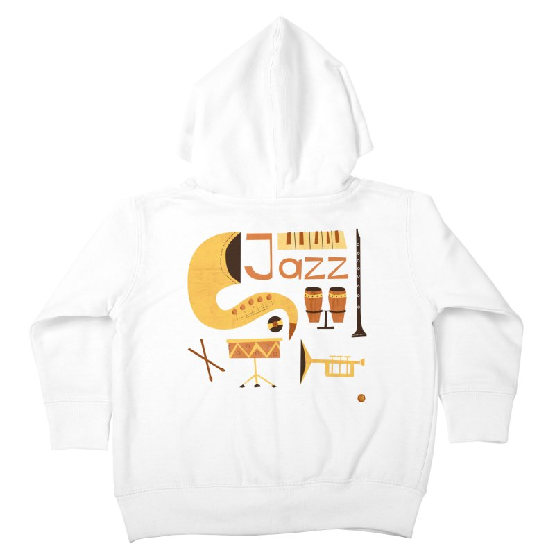 Vintage Jazz Illustration Kids Toddler Zip-Up Hoody by amirabouroumie's Artist Shop